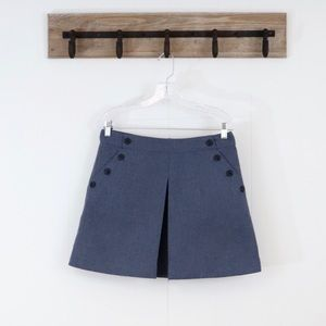 Gap pleated mini skirt button pockets